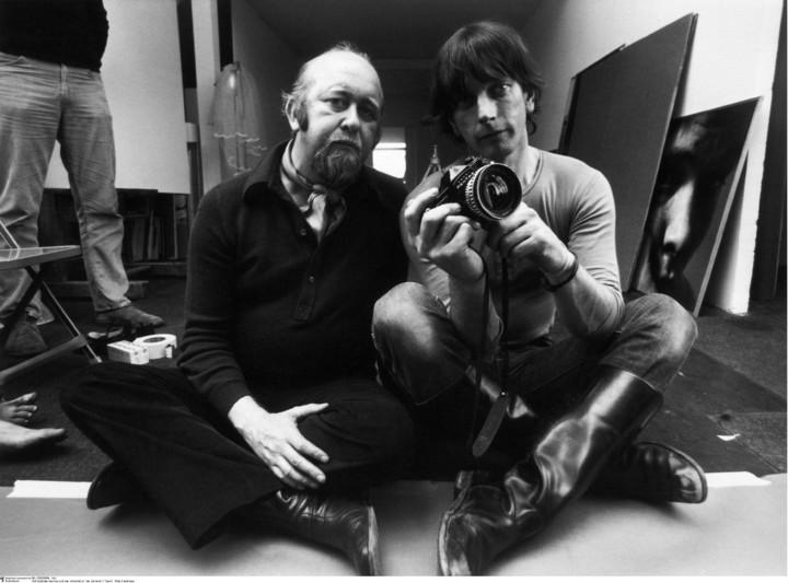 Willy Fleckhaus (links) mit seinem Fotografen Will McBride.