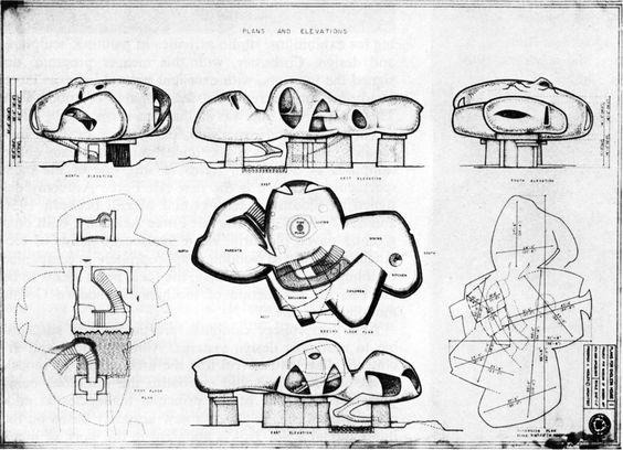 Endless House – Zeichnungen